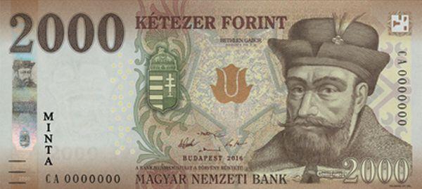 Ilyen lesz az új 2000 forintos bankjegy