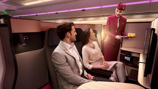 Ultraluxus a levegőben a Quatar Airwaystől