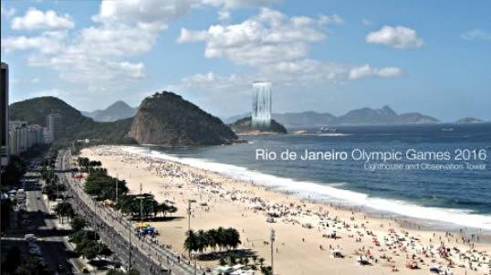 Olimpiai önfenntartó óriásvízesés Brazíiában