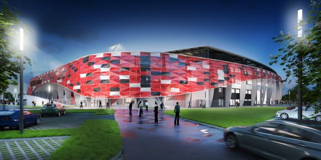 A Bozsik-stadion egy látványterve