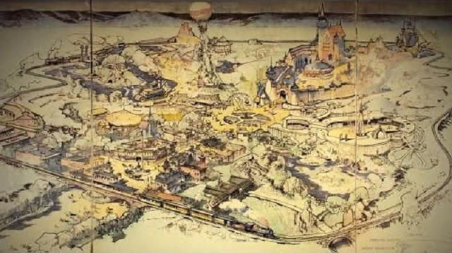 Több mint 700 ezer dollárért kelt el a legelső Disneyland-térkép