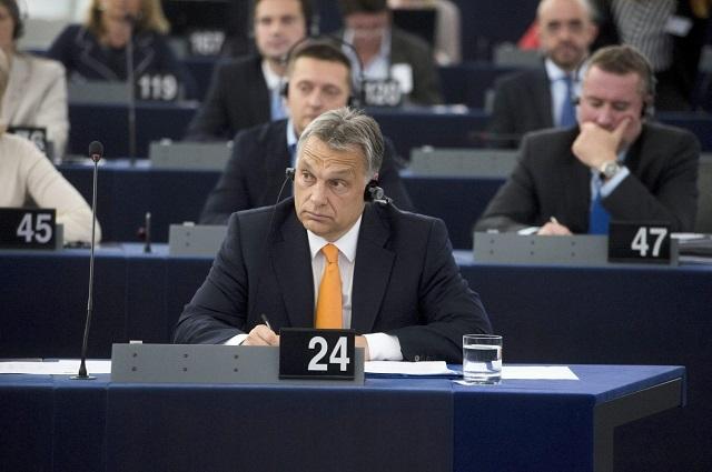 Orbán Viktor miniszterelnök az Európai Parlamentben