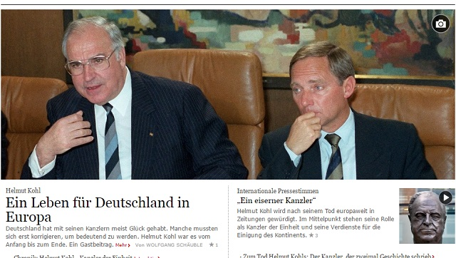 A Frankfurter Allgemeine weboldalának címlapja