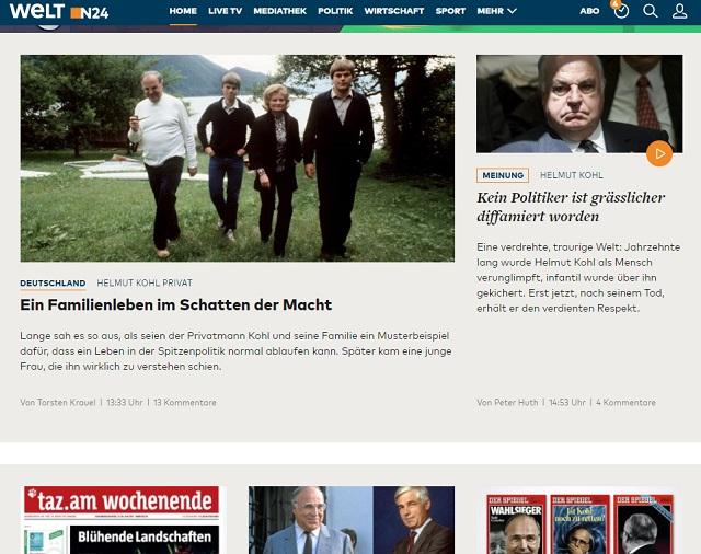 A Die Welt címlapja