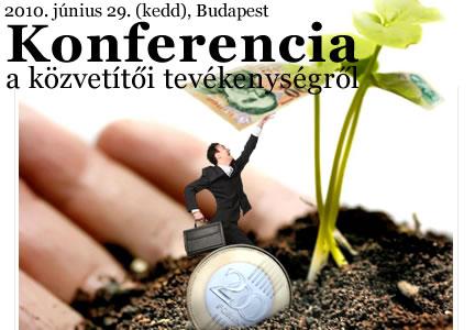 Konferencia a pénzügyi közvetítői tevékenységről -