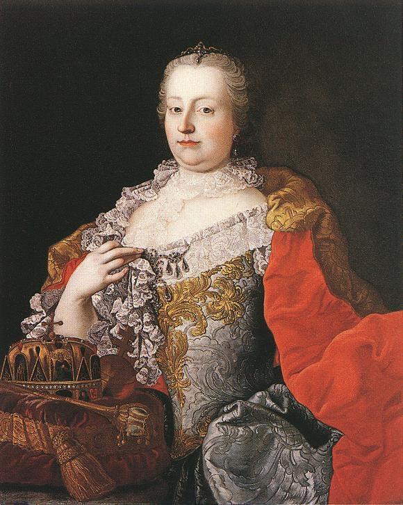 Mária Terézia Meytens festményén