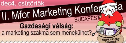 II. Mfor Marketing Konferencia /2008/ - Gazdasági válság: a marketing szakma sem menekülhet?