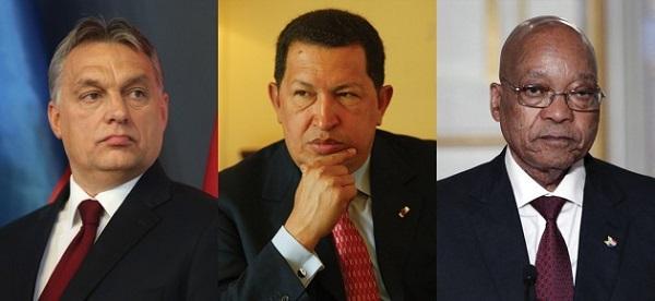 Demokráciából kleptokrácia: Orbán Viktor, Hugo Chavez, Jacob Zuma