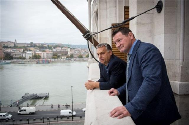 Orbán Viktor kormányfő és Erdei Zsolt