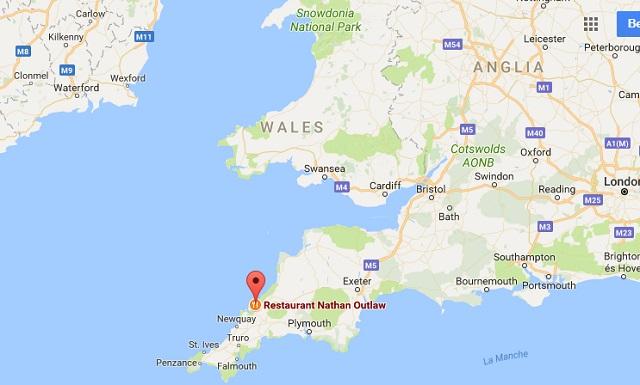 A kis étterem az Egyesült Királyság nyugati csücskében található