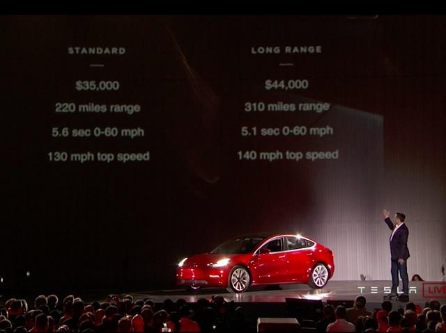 """Történelmet írt a Tesla: Megérkezett az első elektromos """"népautó"""", a Model 3"""