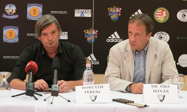 Horváth Ferenc, vezetőedző és Dr.Tiba István